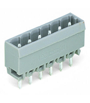 THT male header; 1.2 x 1.2 mm solder pin; straight; Pin spacing 5 mm; 11-pole; gray