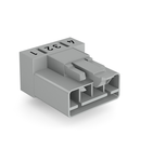Plug for PCBs; angled; 4-pole; Cod. B; gray