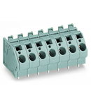 PCB terminal block; 6 mm²; Pin spacing 10 mm; 7-pole; CAGE CLAMP®; commoning option; 6,00 mm²; gray