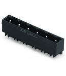 THR male header; 1.2 x 1.2 mm solder pin; straight; Pin spacing 7.5 mm; 4-pole; black