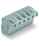 1-conductor female plug; angled; 2.5 mm²; Pin spacing 7.5 mm; 11-pole; 2,50 mm²; gray