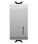 Intrerupator cap scara 1P 250V ac - 16AX ILLUMINABLE - WITH DIFFUSER - 1 MODULE - .WHITE - CHORUS