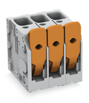 PCB terminal block; lever; 6 mm²; Pin spacing 7.5 mm; 8-pole; Push-in CAGE CLAMP®; 6,00 mm²; gray