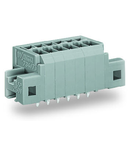 PCB terminal block; 1.5 mm²; Pin spacing 3.5 mm; 6-pole; CAGE CLAMP®; clamping collar; 1,50 mm²; gray