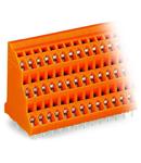 Triple-deck PCB terminal block; 2.5 mm²; Pin spacing 5.08 mm; 3 x 2-pole; CAGE CLAMP®; 2,50 mm²; orange