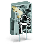 Stackable PCB terminal block; push-button; 2.5 mm²; Pin spacing 5 mm; 1-pole; CAGE CLAMP®; 2,50 mm²; gray