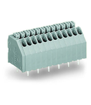 PCB terminal block; push-button; 0.5 mm²; Pin spacing 2.54 mm; 15-pole; Push-in CAGE CLAMP®; 0,50 mm²; gray