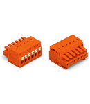 1-conductor female plug; 100% protected against mismating; push-button; 1.5 mm²; Pin spacing 3.81 mm; 12-pole; 1,50 mm²; orange