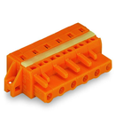 1-conductor female plug; clamping collar; 2.5 mm²; Pin spacing 7.62 mm; 8-pole; 2,50 mm²; orange