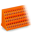 Triple-deck PCB terminal block; 2.5 mm²; Pin spacing 5.08 mm; 3 x 12-pole; CAGE CLAMP®; 2,50 mm²; orange