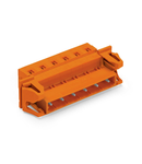 1-conductor male connector; Snap-in flange; 2.5 mm²; Pin spacing 7.62 mm; 3-pole; 2,50 mm²; orange