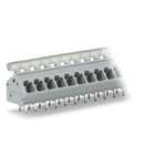 PCB terminal block; push-button; 2.5 mm²; Pin spacing 5/5.08 mm; 10-pole; CAGE CLAMP®; commoning option; 2,50 mm²; gray