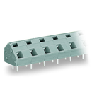 PCB terminal block; 2.5 mm²; Pin spacing 10/10.16 mm; 5-pole; CAGE CLAMP®; commoning option; 2,50 mm²; gray