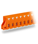 PCB terminal block; push-button; 2.5 mm²; Pin spacing 7.62 mm; 10-pole; CAGE CLAMP®; clamping collar; 2,50 mm²; orange