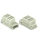 2-conductor combi strip; 100% protected against mismating; 1.5 mm²; Pin spacing 3.5 mm; 12-pole; 1,50 mm²; light gray