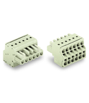 2-conductor female connector; 100% protected against mismating; 2.5 mm²; Pin spacing 5 mm; 10-pole; 2,50 mm²; light gray
