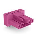 Socket for PCBs; angled; 5-pole; Cod. B