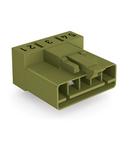 Plug for PCBs; angled; 5-pole; Cod. B