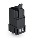 Plug for PCBs; straight; 2-pole; Cod. A