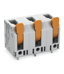 PCB terminal block; lever; 4 mm²; Pin spacing 11.5 mm; 4-pole; Push-in CAGE CLAMP®; 4,00 mm²; gray