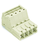 1-conductor male connector; 100% protected against mismating; 10 mm²; Pin spacing 7.62 mm; 7-pole; 10,00 mm²; light gray