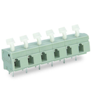 PCB terminal block; push-button; 2.5 mm²; Pin spacing 10/10.16 mm; 5-pole; suitable for Ex-e applications; CAGE CLAMP®; commoning option; 2,50 mm²; light gray