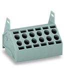 2-conductor PCB terminal block; 1.5 mm²; Pin spacing 5 mm; 12-pole; Push-in CAGE CLAMP®; 1,50 mm²; gray