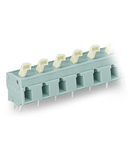 PCB terminal block; push-button; 2.5 mm²; Pin spacing 10/10.16 mm; 3-pole; suitable for Ex-e applications; CAGE CLAMP®; commoning option; 2,50 mm²; light gray
