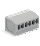 PCB terminal block; push-button; 1.5 mm²; Pin spacing 3.5 mm; 19-pole; Push-in CAGE CLAMP®; 1,50 mm²; gray