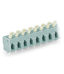 PCB terminal block; push-button; 2.5 mm²; Pin spacing 7.5/7.62 mm; 24-pole; CAGE CLAMP®; commoning option; 2,50 mm²; gray