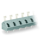 PCB terminal block; push-button; 2.5 mm²; Pin spacing 10/10.16 mm; 9-pole; suitable for Ex-e applications; CAGE CLAMP®; commoning option; 2,50 mm²; light gray