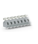 PCB terminal block; push-button; 2.5 mm²; Pin spacing 7.5/7.62 mm; 9-pole; CAGE CLAMP®; commoning option; 2,50 mm²; gray