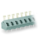 PCB terminal block; push-button; 2.5 mm²; Pin spacing 7.5/7.62 mm; 4-pole; suitable for Ex-e applications; CAGE CLAMP®; commoning option; 2,50 mm²; light gray