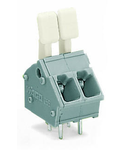 PCB terminal block; finger-operated levers; 2.5 mm²; Pin spacing 5/5.08 mm; 10-pole; CAGE CLAMP®; commoning option; 2,50 mm²; gray