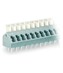 PCB terminal block; push-button; 2.5 mm²; Pin spacing 5/5.08 mm; 6-pole; suitable for Ex-e applications; CAGE CLAMP®; commoning option; 2,50 mm²; light gray