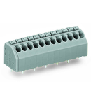 PCB terminal block; push-button; 1.5 mm²; Pin spacing 3.5 mm; 13-pole; Push-in CAGE CLAMP®; 1,50 mm²; blue