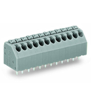 PCB terminal block; push-button; 1.5 mm²; Pin spacing 3.5 mm; 12-pole; Push-in CAGE CLAMP®; 1,50 mm²; blue