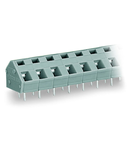 PCB terminal block; 2.5 mm²; Pin spacing 7.5/7.62 mm; 2-pole; suitable for Ex-e applications; CAGE CLAMP®; commoning option; 2,50 mm²; light gray