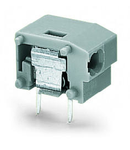 Stackable 2-conductor PCB terminal block; 0.75 mm²; Pin spacing 10/10.16 mm; 1-pole; PUSH WIRE®; 0,75 mm²; gray