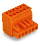 1-conductor female plug; angled; 2.5 mm²; Pin spacing 5.08 mm; 17-pole; 2,50 mm²; orange