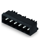 THR male header; 1.0 x 1.0 mm solder pin; angled; Pin spacing 5 mm; 12-pole; black