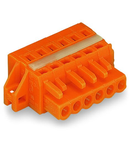 1-conductor female plug; clamping collar; 2.5 mm²; Pin spacing 5.08 mm; 21-pole; 2,50 mm²; orange