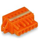 1-conductor female plug; clamping collar; 2.5 mm²; Pin spacing 5.08 mm; 17-pole; 2,50 mm²; orange