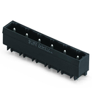 THR male header; 1.2 x 1.2 mm solder pin; straight; Pin spacing 7.5 mm; 5-pole; black