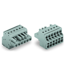 2-conductor female connector; 2.5 mm²; Pin spacing 5 mm; 14-pole; 2,50 mm²; gray