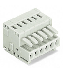 1-conductor female plug; 100% protected against mismating; 1.5 mm²; Pin spacing 3.5 mm; 2-pole; 1,50 mm²; light gray