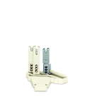 Female connector; with strain relief plate; 5-pole; white/gray