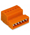 1-conductor male connector; 2.5 mm²; Pin spacing 5.08 mm; 4-pole; 2,50 mm²; orange