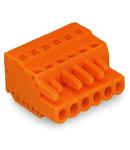 1-conductor female plug; 2.5 mm²; Pin spacing 5.08 mm; 12-pole; 2,50 mm²; orange