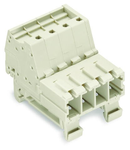 1-conductor male connector; 100% protected against mismating; DIN-35 rail mounting; 10 mm²; Pin spacing 7.62 mm; 3-pole; 10,00 mm²; light gray